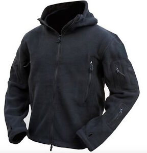 TACTICAL-KOMBAT-UK-BLACK-RECON-FLEECE-HOODIE-ARMY-OUTDOOR-SECURITY-SIZE-SMALL