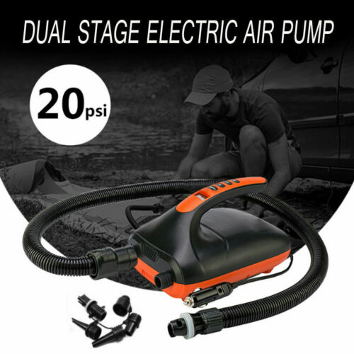 20PSI Portable SUP Electric Inflatable Pump Rubber Boat High Pressure Air Pump