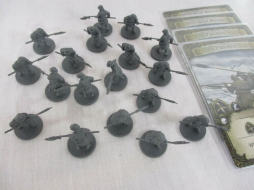 Time of Legends Joan of Arc Lot of 18 PIKEMEN Miniatures /& GAME CARDS New!!