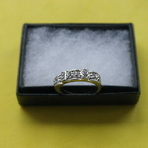 Nice Silver Plated Ring With Cubic Zirconia 2.1 Gr. Size P In gift Box
