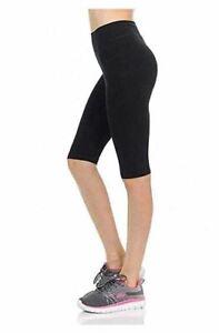 "womens petite 21"" capri leggings cotton shorts spandex"