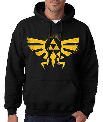 LEGEND of ZELDA GOLD HOODIE Triforce Logo Hoodie Hoody  Hooded Sweatshirt Symbol