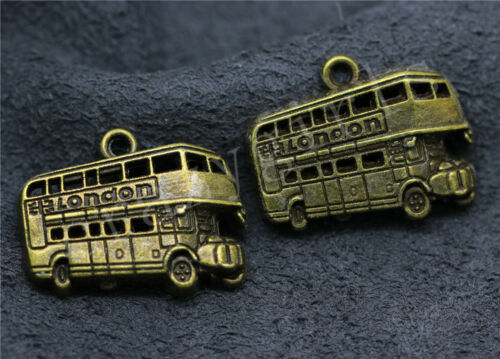 4//20//100pcs Tibetan Silver Beautiful Bus Jewelry Charms Pendant DIY 25x21mm
