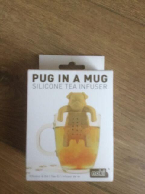 Pug in a Mug Silicone Tea infuser. Noki Paladone. New in Box. Dog / Tea lovers