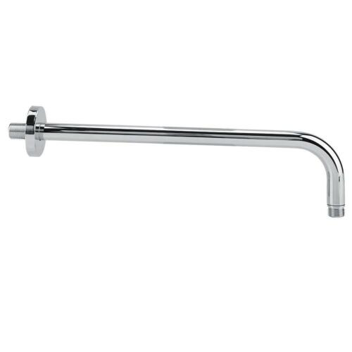 Long Stainless Steel Shower Rain Head Arm Flange Set Wall Fixed Finish