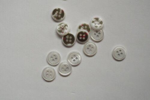 10pc 11mm chemise blanche chemisier cardigan bébé enfants tricots bouton 0725