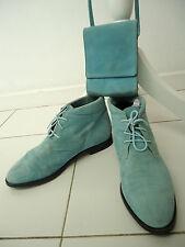 MARC CAIN Damen Stiefeletten Wildleder Gr./Size 40 + Kleine Tasche Suede Boots