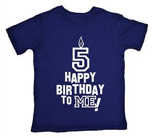 Das Bild Wird Geladen 5 Geburtstag T Shirt 034 Happy Birthday To