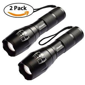 2x LED Cree Taschenlampe Polizei Swat T6 Taktische Militär Zoom Camping licht
