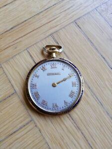 Tiffany-amp-Co-Taschenuhr-18K-Gold-massiv-Comor-Uhrwerk-1981-Schweiz-swiss-watch