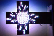 RGB KREUZ TAFEL HELL LED PROGRAMMIERBARE 100x100 FÜR APOTHEKE 7680led