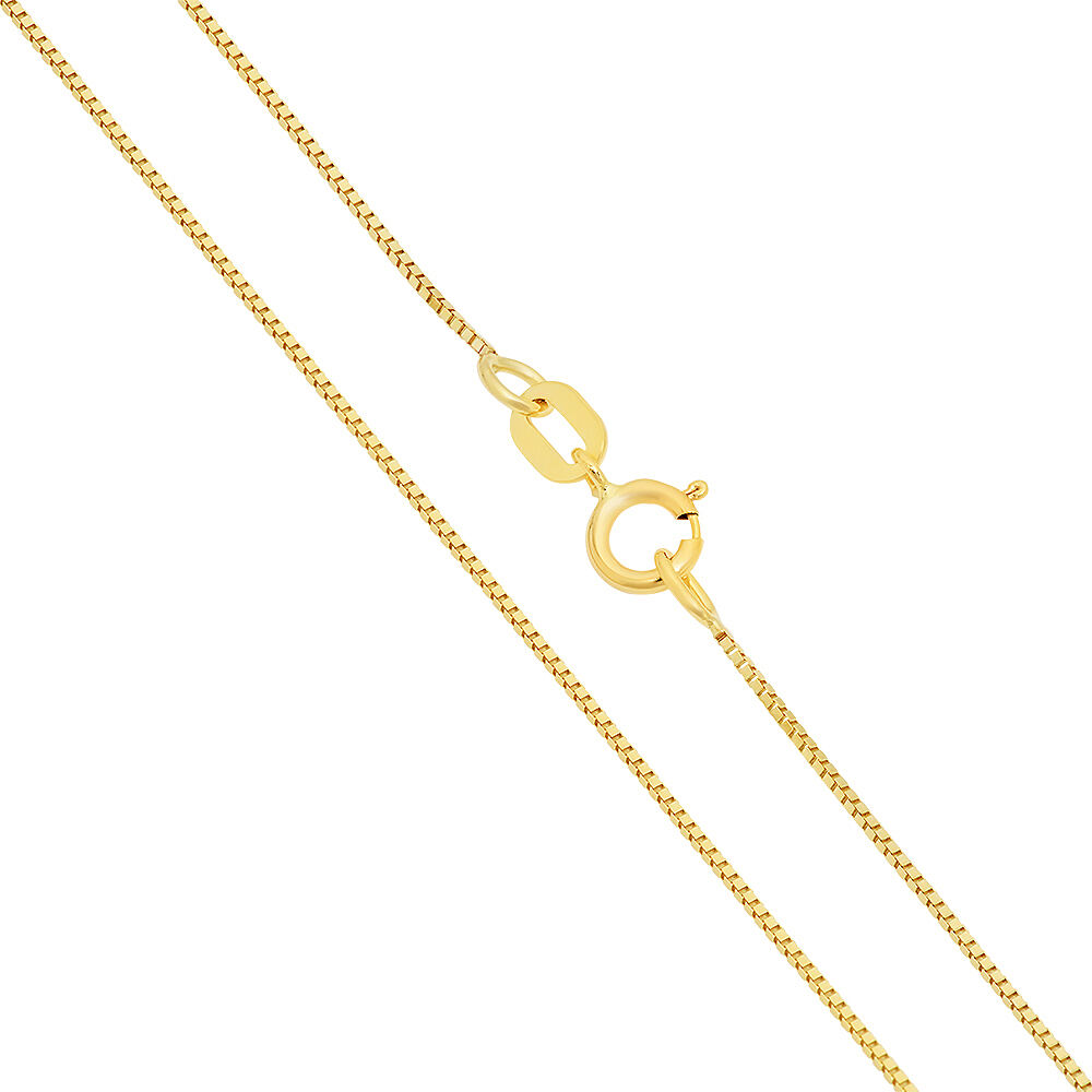 14k solid yellow white gold italy box necklace pendant