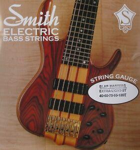 ken smith smxl 5t slap masters stainless steel bass strings taper b 5 39 s 40 120 ebay