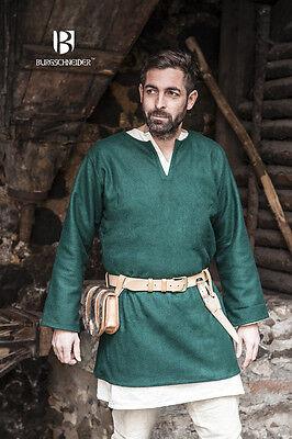 Mittelalterliche Tunika Lodin Grün Wolle von Burgschneider