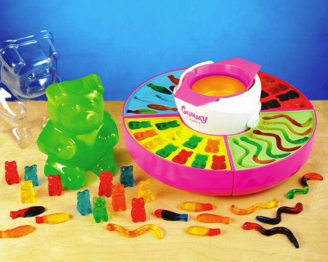 GUMMY CANDY MAKER MACHINE ~ FISH WORMS & GIANT BEAR SILICONE MOLD KIT ~ GCM-600