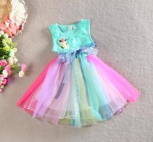 Grosses Soldes Princesse Summer Rainbow Tutu, Robe Verte Rainbow Tutu Polka Dot Ribbon, Mignon-afficher Le Titre D'origine