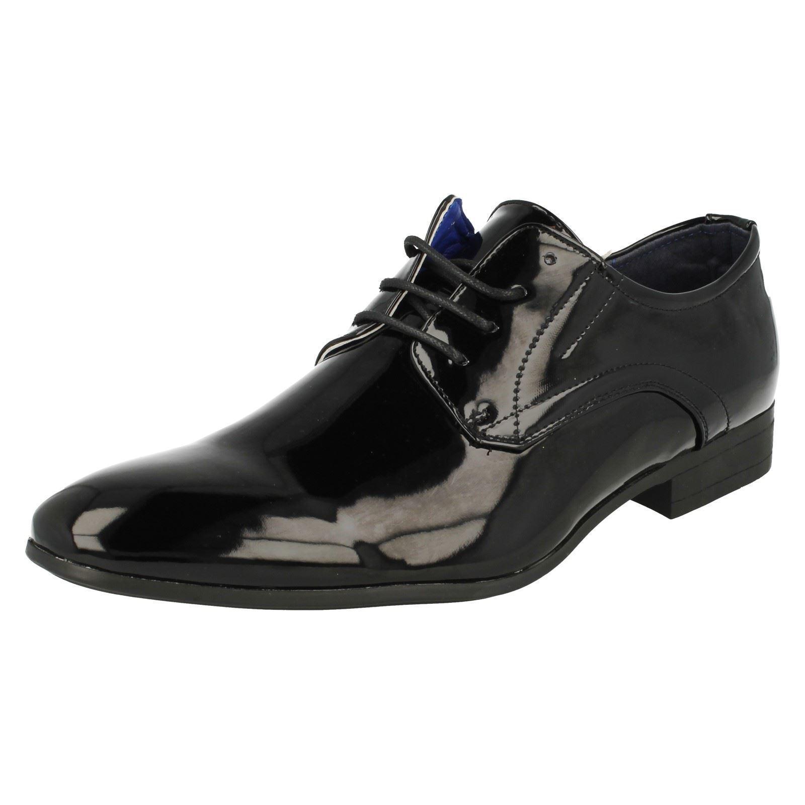 Malvern Zapatos Hombre Formal Charol look Zapatos Malvern Con Cordones 'a2136' Negro 48826e