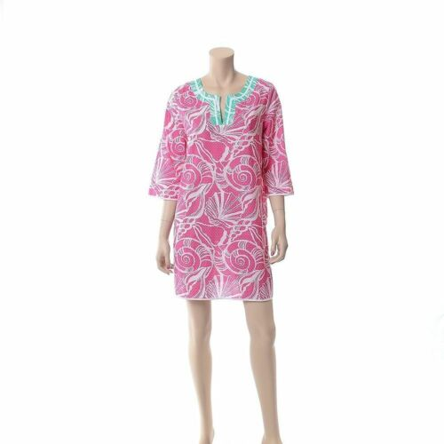 Lilly Pulitzer Pink Cotton King Conch Sea Shells C