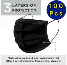 100 50 Pcs Black Face Mask Mouth Amp Nose Protector Respirator Masks With Filter