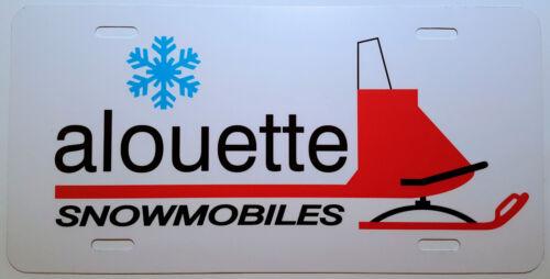 Vintage Alouette Sled Snowmobile Logo Novelty License Plate