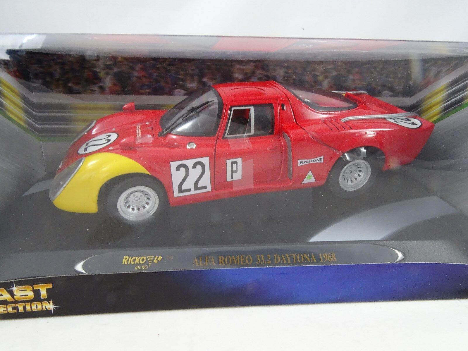 1 18 Ricko Alfa Romeo 33.2 Series Racing rosso   giallo - Rareza