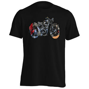 Art-moteur-moto-Tee-Shirt-Homme-Tank-Top-s170m