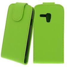 Für Samsung Galaxy S3 Mini / GT-i8190 - Handytasche, Hülle, GRÜN mit Schutzfolie