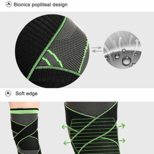 3D Weaving Sport Pressurization Knee Pad Support Brace Injury Pressure Protect J