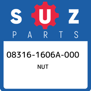 08316-1606A-000-Suzuki-Nut-083161606A000-New-Genuine-OEM-Part