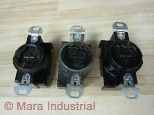 Arrow Hart GL20443 Power Lock Receptacle 10A250VDC (Pack of 3)