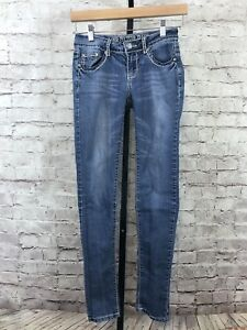 Culture Love Med Stretch Skinny Juniors Women Jeans Wash Taille 1 Bling OA7TAqPWd