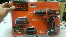 Black & Decker 12V Lithium Drill with 2 Batteries