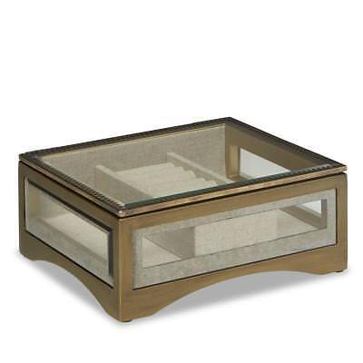 Jaclyn Smith Women/'s Wooden Oak Finish Jewelry Box