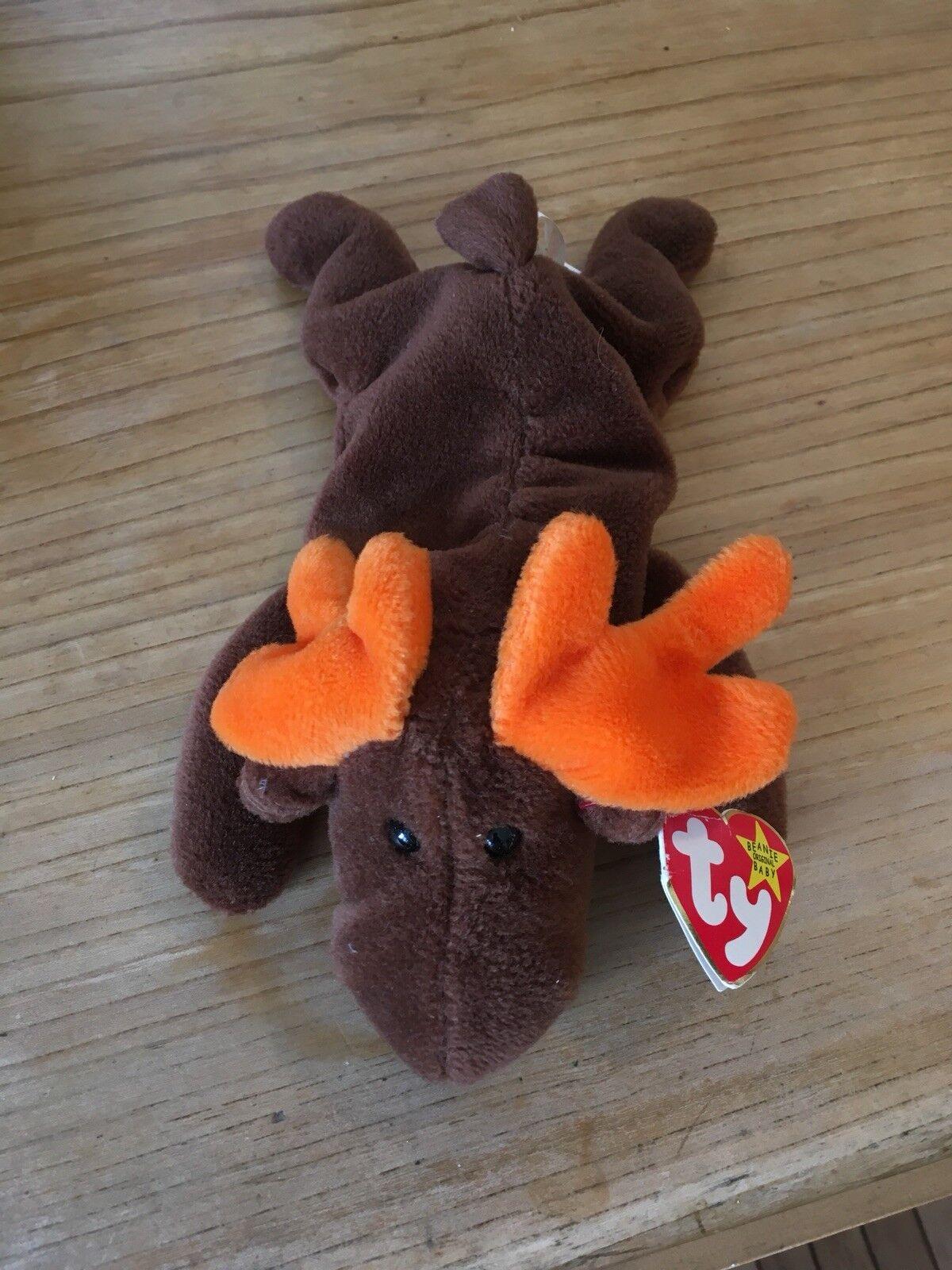 Original - ty beanie baby schokolade stil 4015 elch 3 gen ht, sehr selten