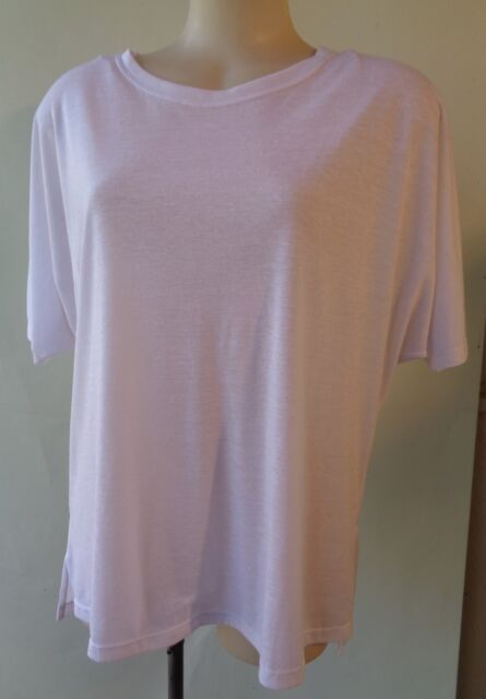 Brown Sugar size 14 linen blend white top NWT New short sleeve free postage