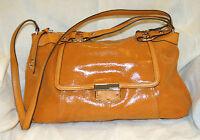 B. Makowsky Leather Zip Top Satchel--dandelion Lizard