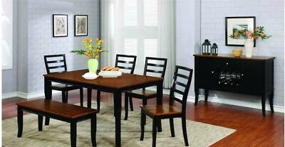 Heavy Duty Folding Picnic Table, 6pc Casual Dining Set Solid Wooden Dining Room Table Furniture Chairs Bench Ebay