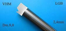 1 VHM Radprofil  Drehmeißel Ø 8,0 mm Spur G cutting lathe terni LGB 0 1 2 h0 lgb