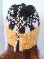 Hand Knit Beanie Hat Slouch Designer Fashion Hip Winter Ski Snow Hot Fun
