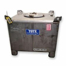 Used 293 Gallon Stainless Steel Pressure Rated Tote Products Tank