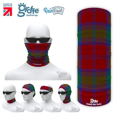 Lindsey Clan Scottish Tartan Multifunctional Headwear Neckwarmer Bandana