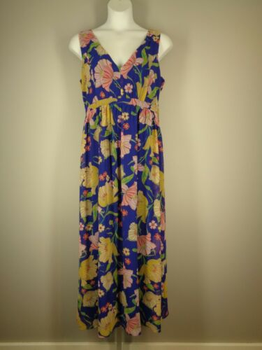 Modcloth Floral Maxi Dress Size XL Chiffon Sleevel