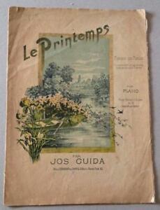 Greece Athens Sheet Music Le Printemps Romance Sans Paroles 1883