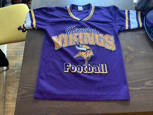 Details about Rare Vintage 1994 Minnesota Vikings NFL T-Shirt Jersey GTS Brand Youth Medium