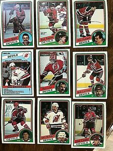 1984-85-O-Pee-Chee-NEW-JERSEY-DEVILS-13-card-team-set-lot