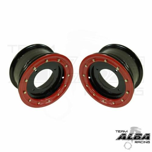 TRX 450R 400EX 300EX  Front Wheels  Beadlock  10x5  4+1  4//144  Alba Racing B//R