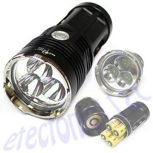 3-x-Led-6000-Lumens-LED-SKY-RAY-Flashlight-Torch-BK-Cree-XML-T6-for-4-x-18650