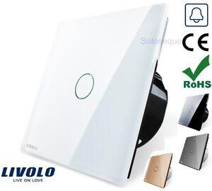 PULSADOR-TIMBRE-PUERTA-CRISTAL-TACTIL-EU-LIVOLO-Door-Bell-Touch-Screen-Switch