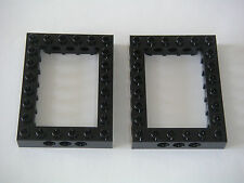 Lego Technic Star Wars 2 Black bricks 6x8 Open Center Neuves New REF 40345