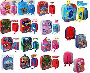 Boys-Girls-Character-Backpack-Kids-School-Books-Travel-Bag-Nursery-Rucksa